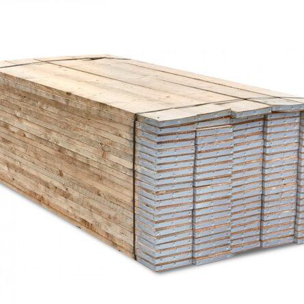 Full Pallet 3.9m (13ft) End Banded Scaffold Boards BS2482:2009 | BULK DEALS