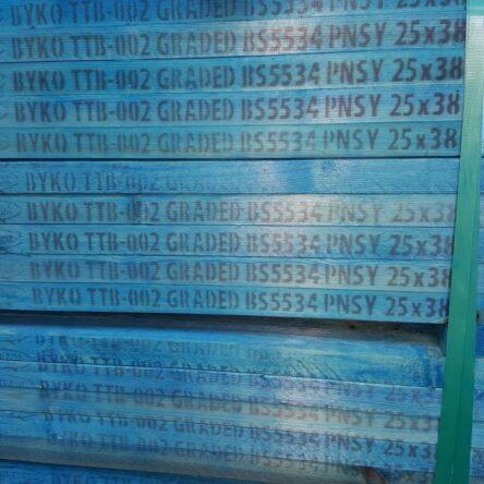 Full Pallet 25×38 BLUE BS5534 Treated Batten (540 pieces) – 4.8m | BULK DEAL